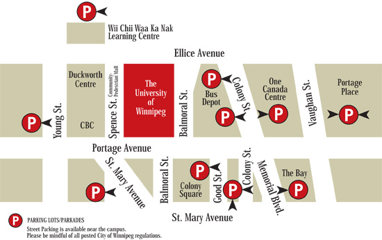 uw parking map
